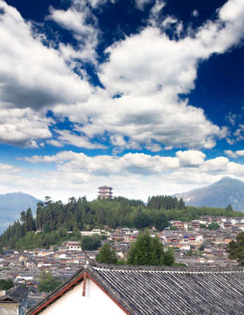 yunnan: A historical town Lijiang China, named as a World Cultural Heritages by UNESCO in 1997.
