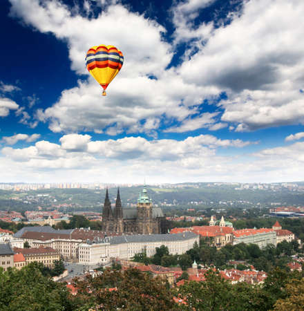 Aerial view of magnificent Prague Castle in Prague City Stock Photo - 4909462