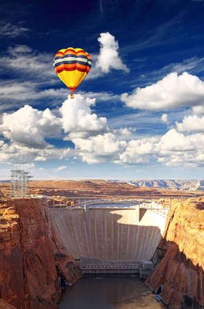 Glen Canyon Dam and Lake Powell USA   photo