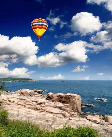 The Acadia National Park Maine Coast USA             photo