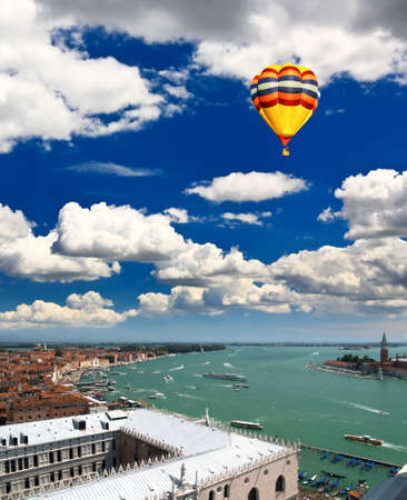 The aerial view of Venice city, Italy Stock Photo - 5065653