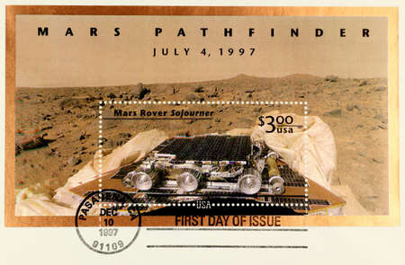 postmark: The first day issue of Mars Pathfinder stamp
