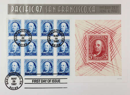 The first day issue of stamps of Pacific 92 - Franklin