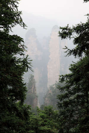 magnificence: The scenery of the first China national forest park - Zhangjiajie, A world nature heritage site