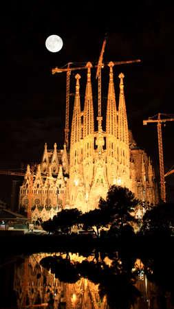 sagrada: The Sagrada Familia Church in Barcelona Spain