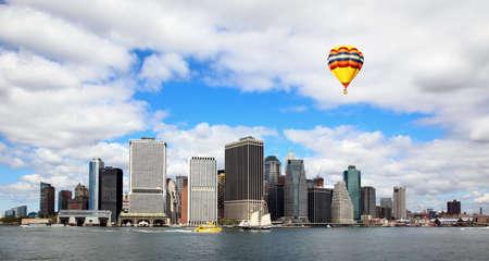 The Lower Manhattan Skylines New York City  Stock fotó