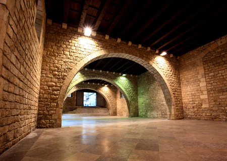 mediterranean interior: The Picasso Museum in old town Barcelona Spain Stock Photo