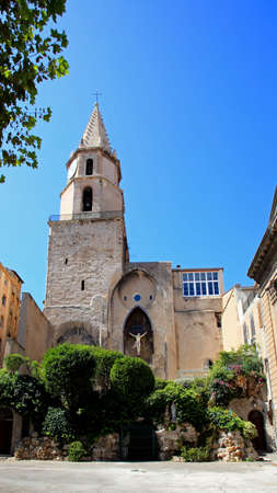 a cathedral  in Marseille City, France     Stock Photo