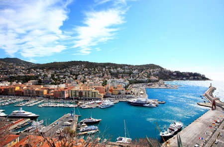aerial view of the city of Nice and the harbor Stock Photo - 5757186