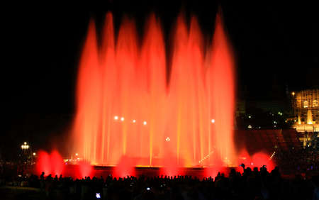The famous Montjuic Fountain in Barcelona Spain photo