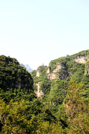 The scenery of Yun-Tai Mountain, a World Geologic Park and AAAAA Scenery Site in China