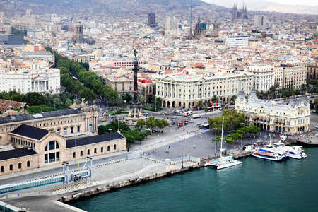 an aerial view of Barcelona City Spain