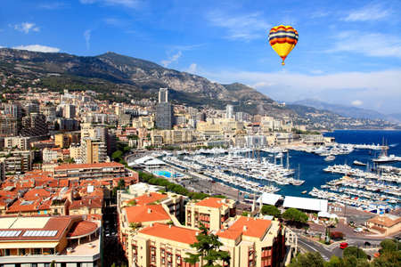Aerial view of downtown Monte-Carlo in Monaco