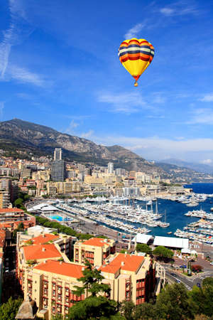 monaco: Aerial view of downtown Monte-Carlo in Monaco
