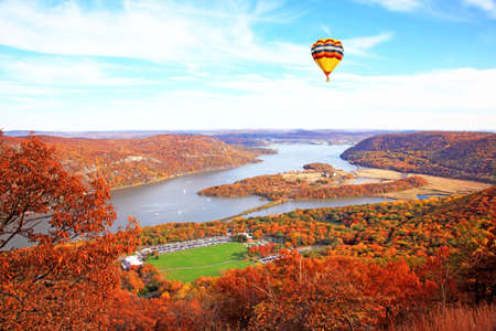 The foliage scenery at Hudson River region in New York State photo