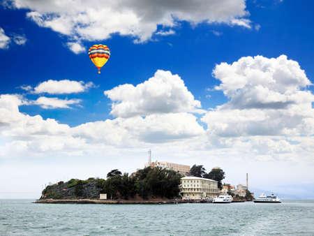 Famous Alcatraz Island in San Francisco USA photo