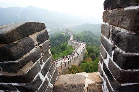 badaling: La grande muraglia a Badaling vicino a Pechino, Cina