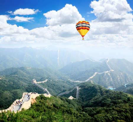 badaling: La grande muraglia a Badaling vicino a Pechino