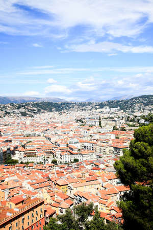 contrasted: aerial view of the Nice old town France Stock Photo