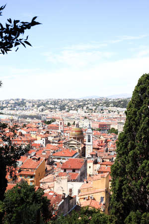 aerial view of the Nice old town France Banco de Imagens