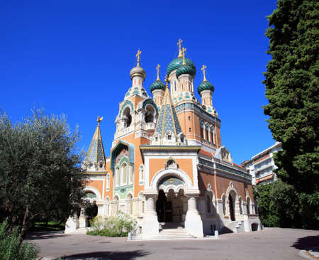 russian orthodox: The unique Russian Orthodox church in Nice, France
