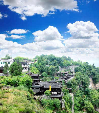 best known: The palace of a Chinses Tujia minority chief in the village best known in the movie Furongzhen