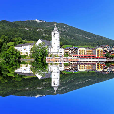 The beautiful St. Wolfgang in Lake district near Salzburg Austria