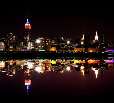 viewed: The Mid-town Manhattan Skyline viewed from New Jersey side