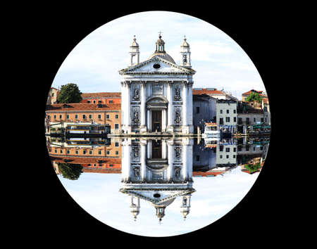 a fisheye view of the scenery of Venice Stock Photo