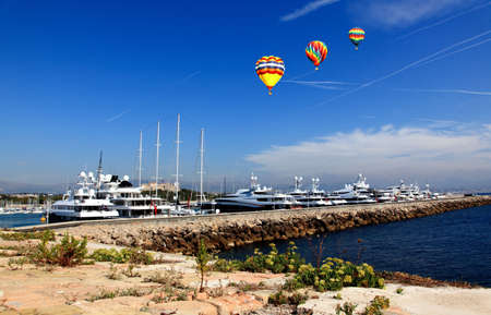 The scenery of coast of Antibes France