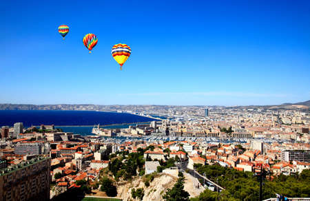 Aerial view of Marseille City France      photo