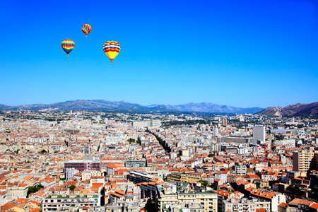 an aerial view of Marseille City France      photo