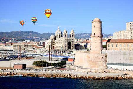 marseille: Het Fort Saint-Jean in Marseille stad, Frankrijk Stockfoto
