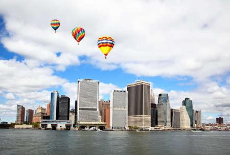 The Lower Manhattan Skylines New York City   免版税图像