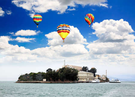 Famous Alcatraz Island in San Francisco USA