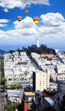 coit: The Coit Tower in San Francisco USA