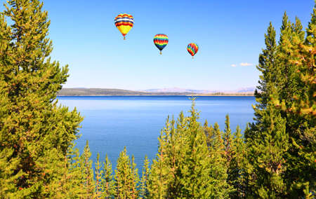 The Yellowstone lake in the Yellowstone National Park photo