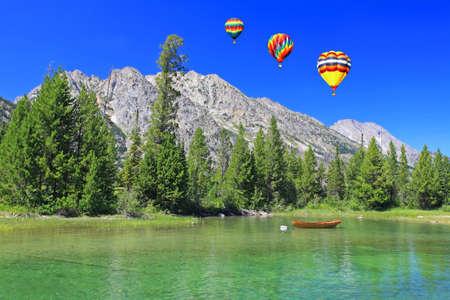 The Jenny Lake in Grand Teton National Park photo