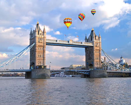 the famous tower bridge in london england photo