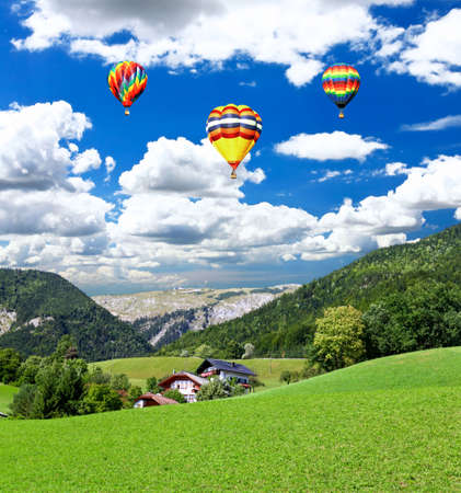The beautiful countryside of St. Wolfgang in Lake district near Salzburg Austria photo