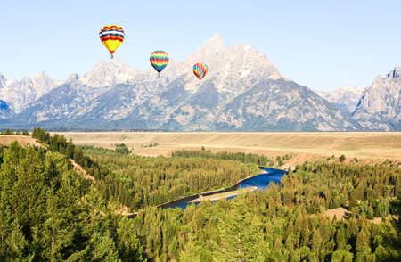 Snake River Overlook at Grand Teton National Park in the morning photo