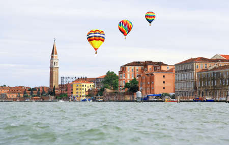 The scenery along the canals in Venice Italy Stock Photo
