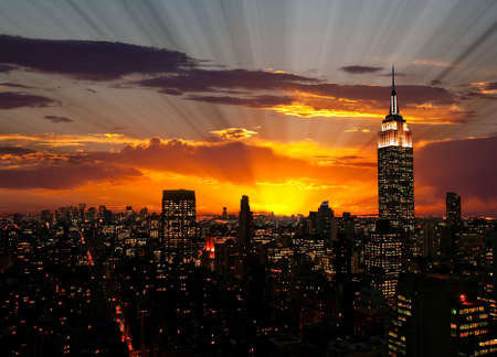 midtown: The Empire State Building and Manhattan Midtown Skyline USA