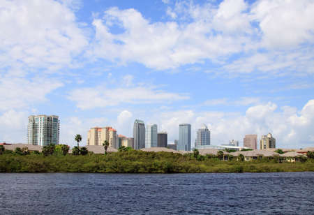 The city skyline of Tampa Florida on a cloudy day Stock Photo - 6803056
