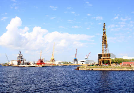 The port of Tampa Florida on a cloudy day      photo