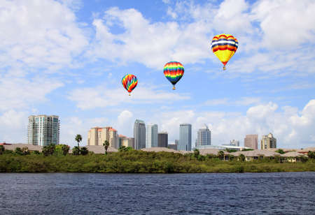 The city skyline of Tampa Florida on a cloudy day