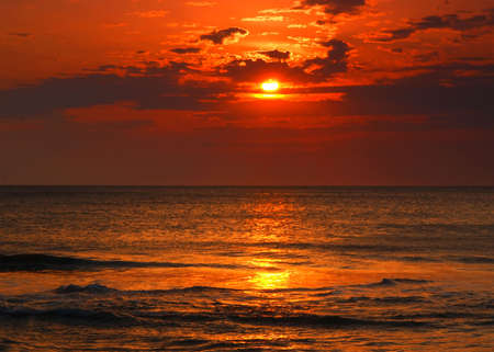 a sunrise at Virginia breach in US