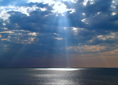Sunray from the sky at Virginia breach in US  photo
