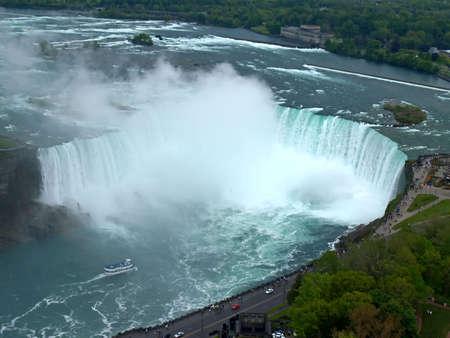 The Niagara Falls between US and Canada photo