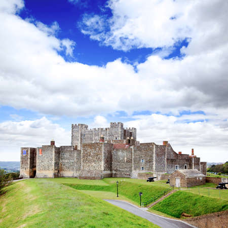 dover: The Dover Castle in south east England UK